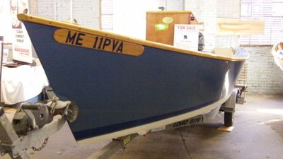 Lumber yard skiff at Maine Boat Builders show - On Board ...